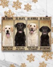 Labrador be strong 36x24 Poster aos-poster-landscape-36x24-lifestyle-27
