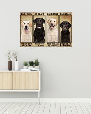 Labrador be strong 36x24 Poster poster-landscape-36x24-lifestyle-01