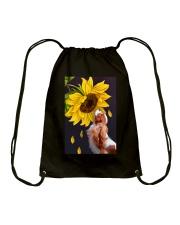 Cavalier sunflower Drawstring Bag thumbnail