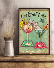 Cocktail Cats Always Fresh  11x17 Poster lifestyle-poster-3