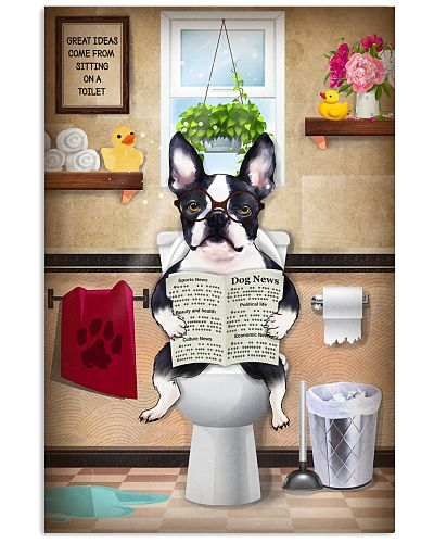 Bonton Terrier Toilet Poster