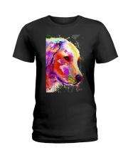 Golden Retriever Water Color Art A2 Ladies T-Shirt thumbnail