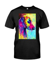 Weimaraner Water Color Classic T-Shirt thumbnail