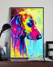 Weimaraner Water Color 16x24 Poster lifestyle-poster-2
