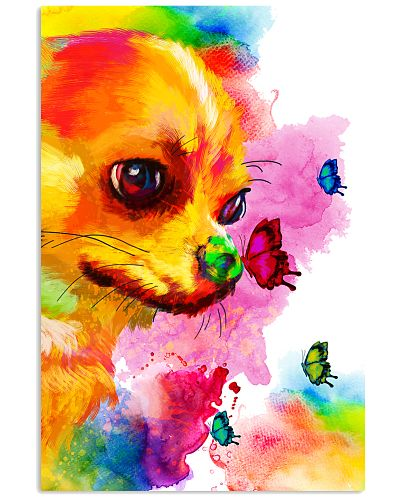 Chihuahua Buterfly Water Color