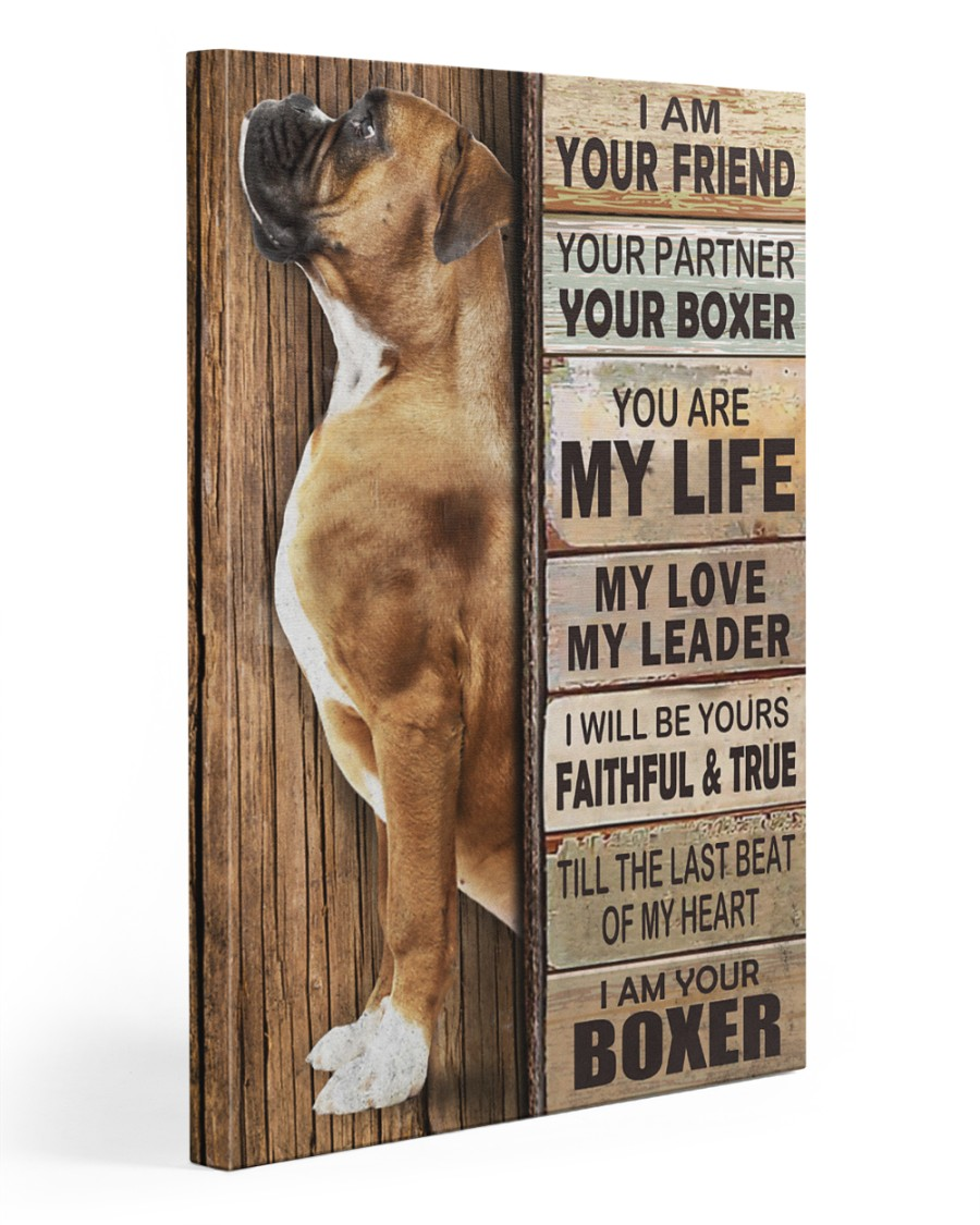 Boxer Partner 20x30 Gallery Wrapped Canvas Prints