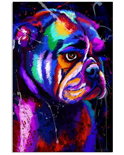 Bulldog Water Color