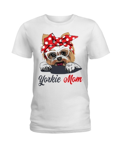 FUNNY YORKIE MOM WHITE SHIRT