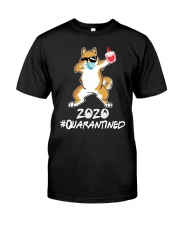 Dog Dabbing 2020 Classic T-Shirt front