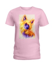 Chinese crested watercolor Ladies T-Shirt thumbnail