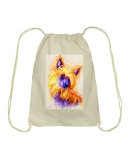 Chinese crested watercolor Drawstring Bag thumbnail