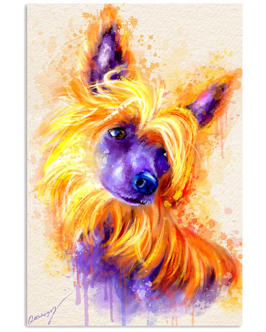 Chinese crested watercolor 11x17 Poster