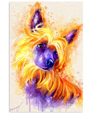 Chinese crested watercolor Vertical Poster tile