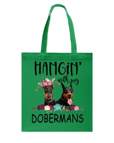 Doberman hanging out