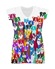 Border Collie  Multi All-over Dress front