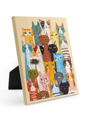Cat Multi 8x10 Easel-Back Gallery Wrapped Canvas thumbnail