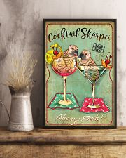 Shar Pei Cocktail 11x17 Poster lifestyle-poster-3