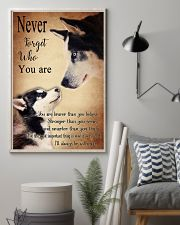 Husky Never Forget 24x36 Poster lifestyle-poster-1