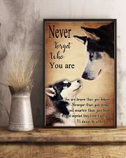 Husky Never Forget 24x36 Poster lifestyle-poster-3