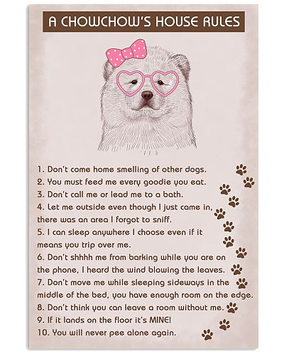 Chow Chow Poster House Rules