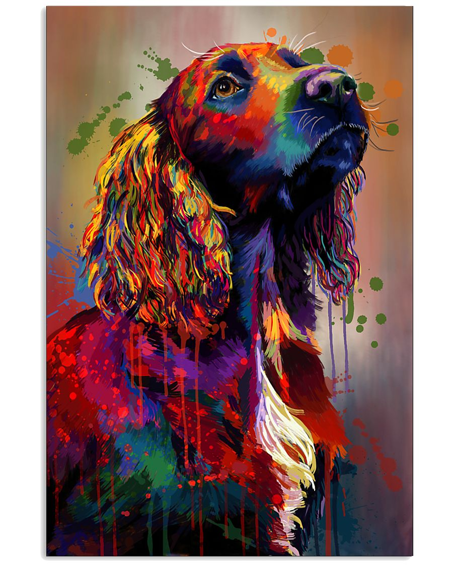 Cocker Spaniel Poster Water Color V9 2107 11x17 Poster