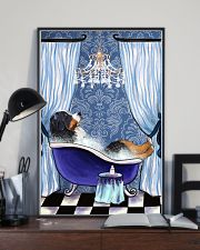 Bernese Mountain Bathroom 11x17 Poster lifestyle-poster-2