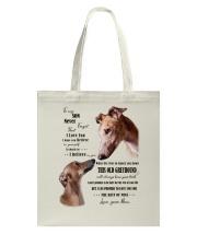 greyhound to my son Tote Bag thumbnail