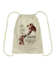 greyhound to my son Drawstring Bag thumbnail