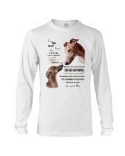 greyhound to my son Long Sleeve Tee thumbnail