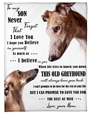 """greyhound to my son Small Fleece Blanket - 30"""" x 40"""" front"""