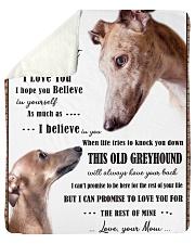 "greyhound to my son Sherpa Fleece Blanket - 50"" x 60"" thumbnail"