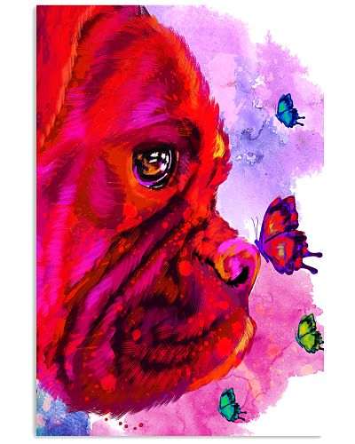 Boxer Buterfly Water Color