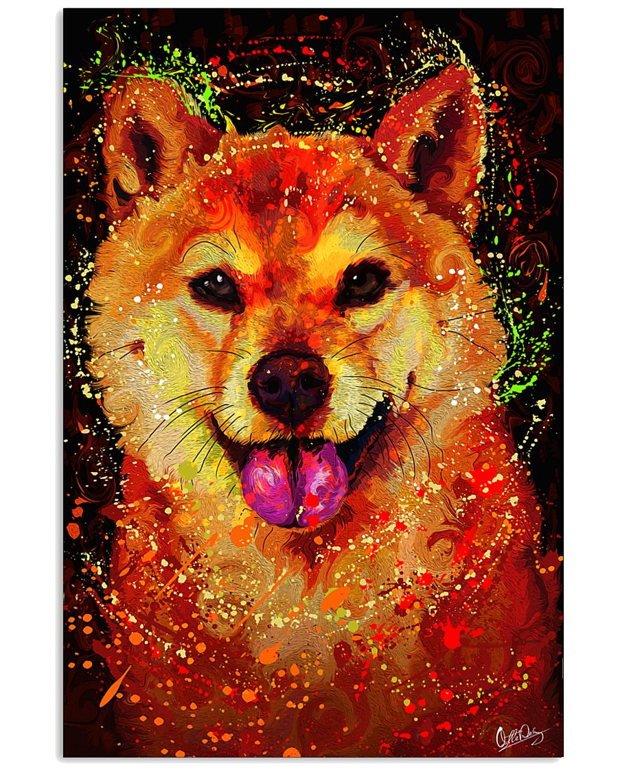 SHIBA INU HAPPY FACE POSTER 16x24 Poster