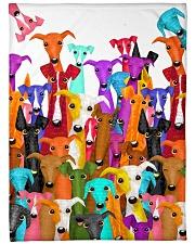 "Greyhound Multi Large Fleece Blanket - 60"" x 80"" front"