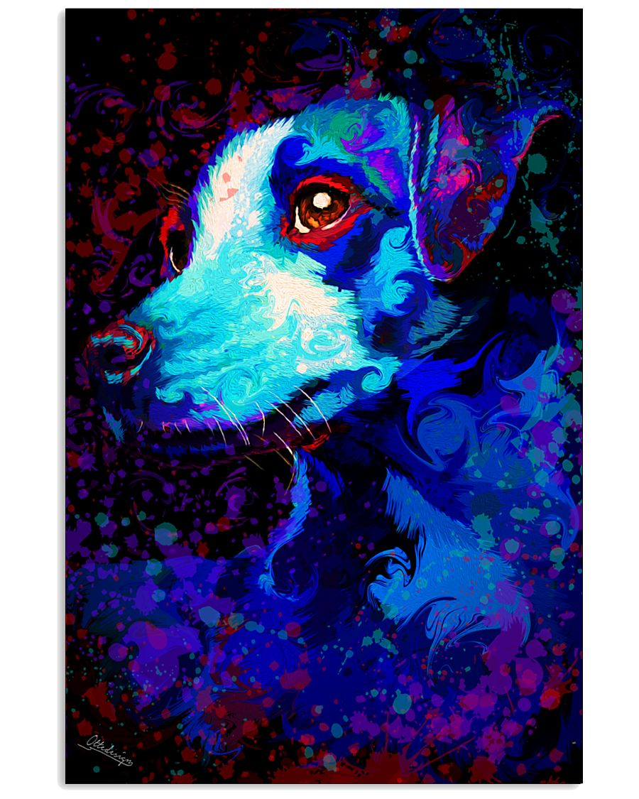 Jack Russell Water Color Art QW12 24x36 Poster