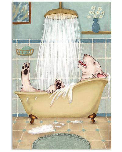 Bull Terrier Happy Bathroom