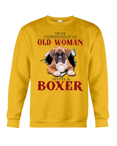 Boxer old woman