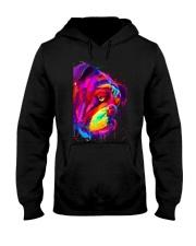 BullDog Poster Face Art V2 Hooded Sweatshirt thumbnail