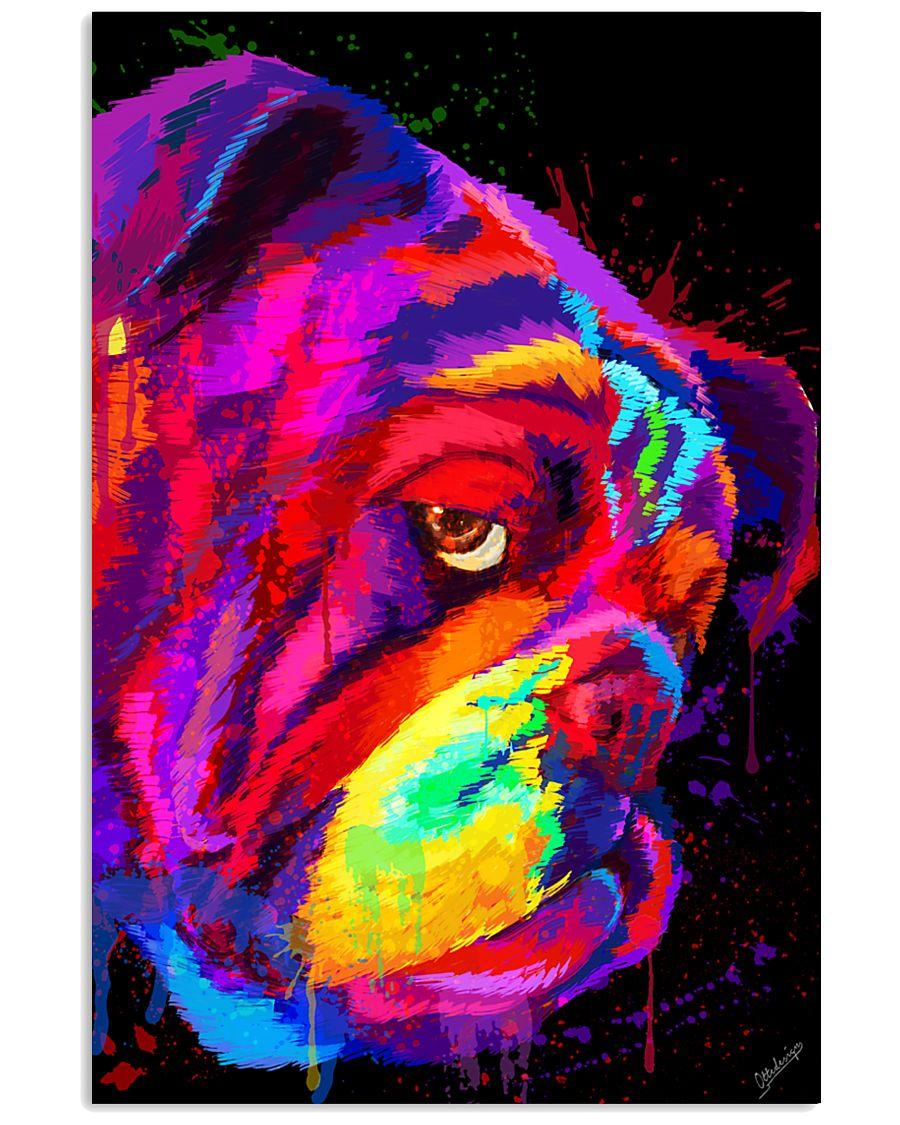 BullDog Poster Face Art V2 24x36 Poster