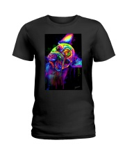 French bulldog Water Color Art Flow S10 Ladies T-Shirt thumbnail