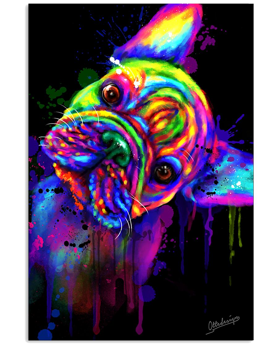 French bulldog Water Color Art Flow S10 11x17 Poster