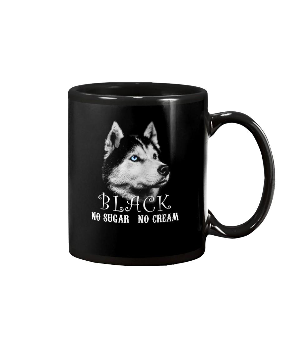husky mug black
