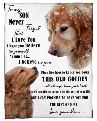 golden retriever to my son