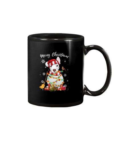 pitbull snowman