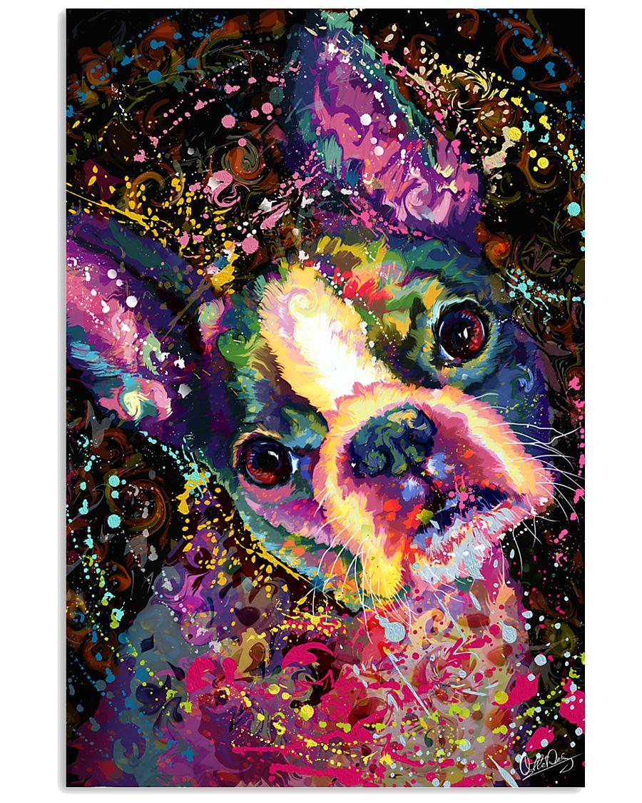 Boston Terrier Splash 11x17 Poster