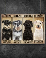 Schnauzer be strong 36x24 Poster aos-poster-landscape-36x24-lifestyle-11