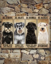 Schnauzer be strong 36x24 Poster aos-poster-landscape-36x24-lifestyle-15