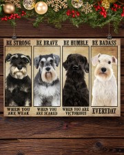 Schnauzer be strong 36x24 Poster aos-poster-landscape-36x24-lifestyle-24