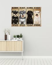 Schnauzer be strong 36x24 Poster poster-landscape-36x24-lifestyle-01