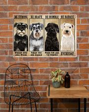 Schnauzer be strong 36x24 Poster poster-landscape-36x24-lifestyle-20
